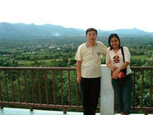 山上からパーイの町を(タイ人旅行者と)