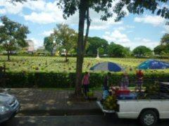 途中カンチャナブリーにあった連合軍の墓